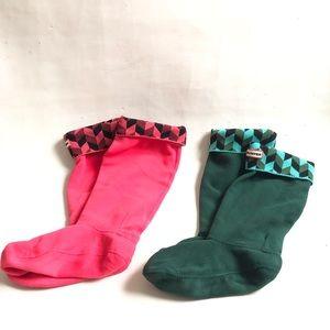 2-HUNTER insoles & rainboot socks size 7-9 L